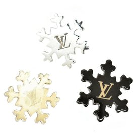 Louis Vuitton-Broche épingle flocon de neige Louis Vuitton-Noir