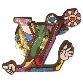 Louis Vuitton-LOUIS VUITTON MURAKAMI jacket pin.-Multiple colors