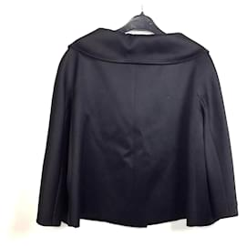 Dior-Dior silk cape-Black
