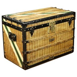 Louis Vuitton-Superb Louis Vuitton trunk in striped canvas 1870/1890-Brown