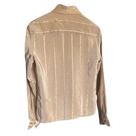 Céline-Vintage Celine shirt-Beige