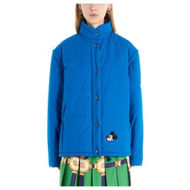 Gucci-Gucci 'Mickey mouse' down jacket-Blue