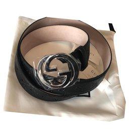 Gucci-Gucci lined Belt Brand New-Black