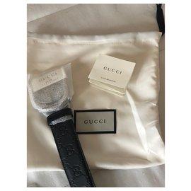 Gucci-Gucci forrado Cinto Brand New-Preto