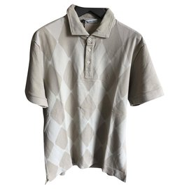 Ballantynes-NEW PRINTED BEIGE POLO-Beige