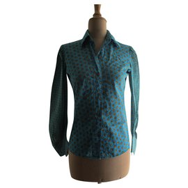 Yves Saint Laurent-Shirt, 40.-Turquoise