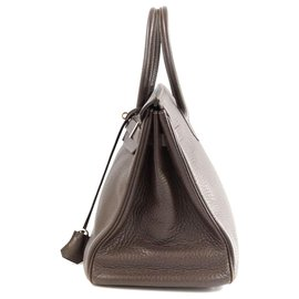 Hermès-Hermes Brown Clemence Birkin 35-Marron,Marron clair
