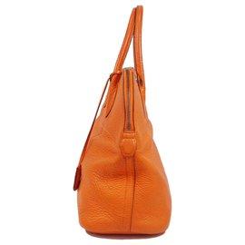 Hermès-Hermes Orange Togo Bolide 35-Orange