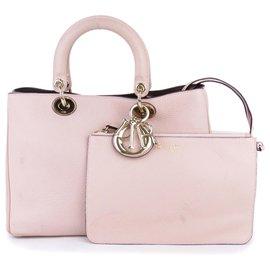 Dior-Cartable Diorissimo en cuir rose Dior-Rose,Autre