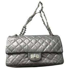 Chanel-Chanel 2.55 Reissue 225 sac classic-Gris anthracite