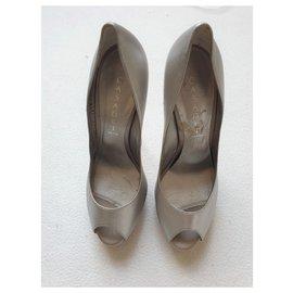 Casadei-Silver pumps-Silvery