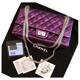 Chanel-Chanel 2.55 Reissue 225 sac classic-Violet