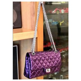 Chanel-Chanel 2.55 Reissue 225 classic bag-Purple