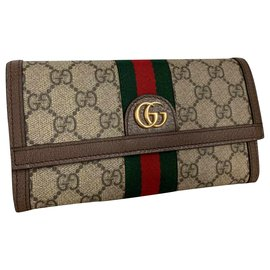 Gucci-Portefeuille continental 'Ophidia GG'-Marron
