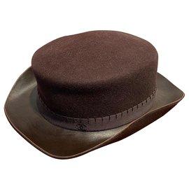 Chanel-Hats-Dark brown