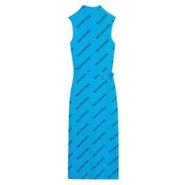 Balenciaga-Dresses-Blue