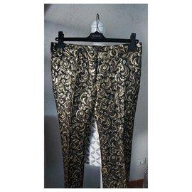 Balmain-Un pantalon, leggings-Doré