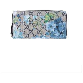 Gucci-Portefeuille Guccj Bloom GG-Bleu