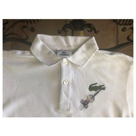 Lacoste-Tops Tees-White