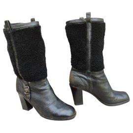 Céline-bottes d'hiver Céline p 40-Noir