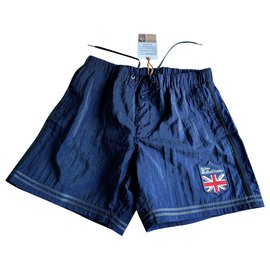 John Galliano-News john galliano blue swim shorts T 2-Navy blue