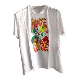 Stella Mc Cartney-T-Shirt aus Bio-Baumwolle-Weiß