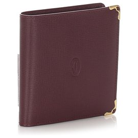 Cartier-Cartier Red Must de Cartier Leather Wallet-Red,Dark red