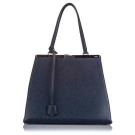 Fendi-Fendi Blue Large 3Jours Tote Bag-Blue,Dark blue