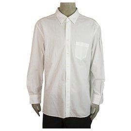 Ermenegildo Zegna-Ermenegildo Zegna Classic Weißes Hemd Langarm Baumwolle Herren 3XL-Weiß