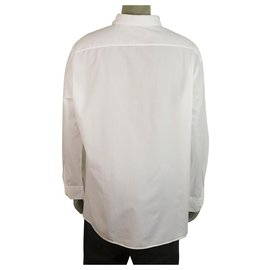 Ermenegildo Zegna-Ermenegildo Zegna Classic White Shirt Long Sleeve Cotton Mens 3XL-White