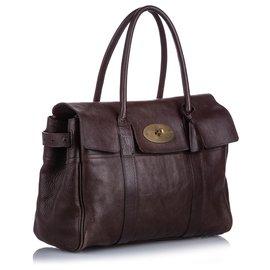 Mulberry-Mulberry Brown Bayswater Leather Handbag-Brown,Dark brown