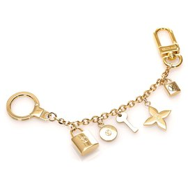 Louis Vuitton-Louis Vuitton Gold Lock Me Strass Charm-Golden