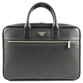 Armani-Armani business bag new-Black