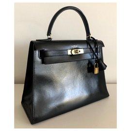 Hermès-Hermes Kelly 28 box noir-Noir