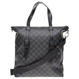 Louis Vuitton-Louis Vuitton Skyline shoulder bag in graphite damier canvas-Black