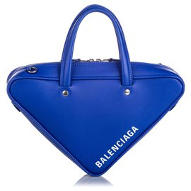 Balenciaga-Balenciaga Blue Triangle Duffle XS Bag-Blue