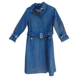 Burberry-Burberry vintage raincoat size XS-Blue