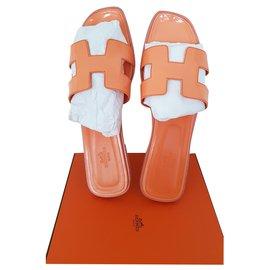 Hermès-ORAN VARNISH LEATHER-Orange