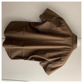 Prada-Kurzärmliges Hemd-Braun