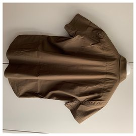 Prada-Short sleeves shirt-Brown