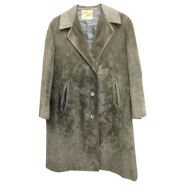 Burberry-Coats, Outerwear-Olive green
