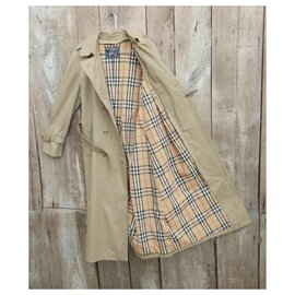Burberry-womens Burberry vintage t trench coat 40-Khaki