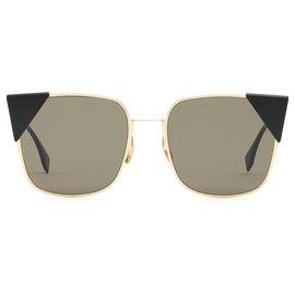 Fendi-FF 0191/ S 0002M BLACK GOLD-Black,Golden