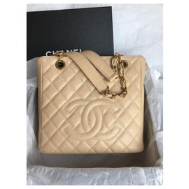 Chanel-Timeless PETITE SHOPPING TOTE PST caviar-Beige
