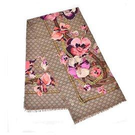 Gucci-GUCCI SCARF BRAND NEW FLORAL-Multicolore
