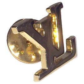 Louis Vuitton-LOUIS VUITTON MONOGRAM jacket pin-Golden