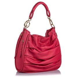 Dior-Sac Hobo en cuir rose Dior Libertine-Rose