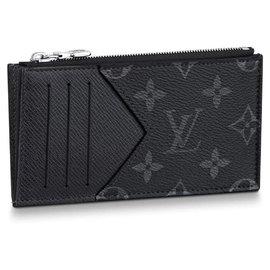 Louis Vuitton-LV coin card holder new-Grey