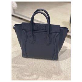 Céline-Nano Luggage-Navy blue