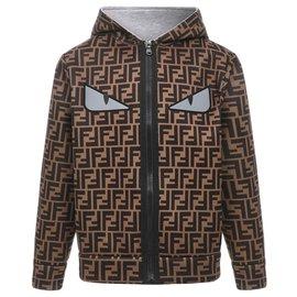 Fendi-Fendi hoodie new-Brown